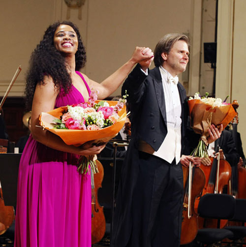 Christopher Franklin conductor, with Pretty Yende