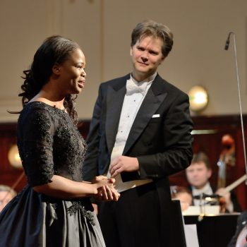 Christopher Franklin with soprano Pretty Yende; Prague Spring Festival 2009